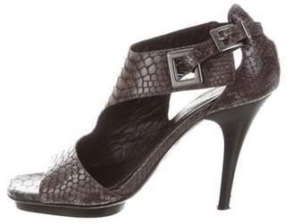 Donald J Pliner Embossed Leather Sandals