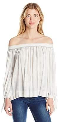 Max Studio Women's Striped Longsleeve Shirting with Ties