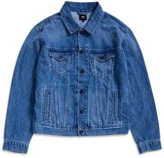 Edwin High Road Kingston Blue Denim Cotton 12oz Jacket Light Stone Wash