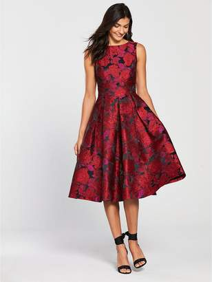 Very Jacquard Prom Dress - Red