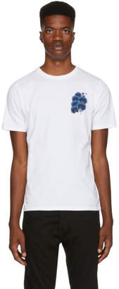 Saturdays NYC White Blue Orchid T-Shirt