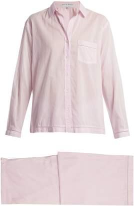 POUR LES FEMMES Jour-échelle trimmed cotton pyjamas