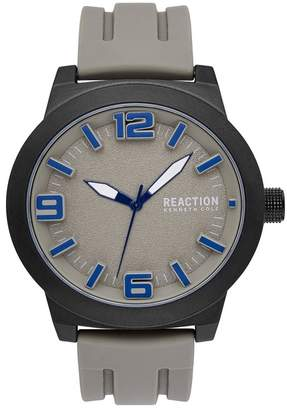 Kenneth Cole Reaction Men's Silicone Strap Watch, 45mm