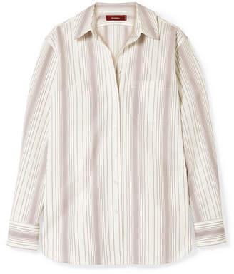 Sies Marjan Sander Striped Cotton-poplin Shirt - Ivory