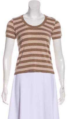 Armani Collezioni Striped Short Sleeve Top