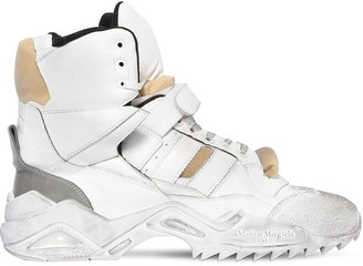 Maison Margiela Artisanal High Top Leather Sneakers