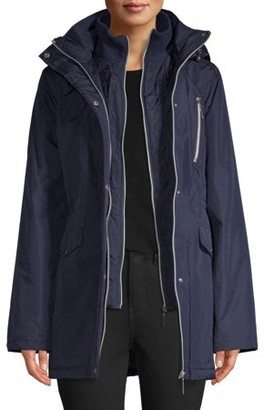 Big Chill Women's Poly Hooded Anorak with Vestee Jacket