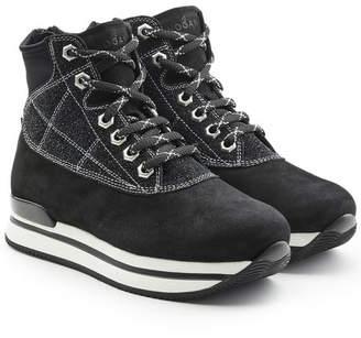 Hogan Suede Platform Ankle Boots