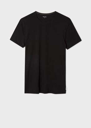 Paul Smith Men's Black Crew Neck Short-Sleeve Vest