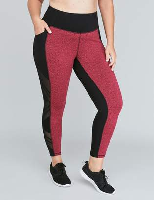 Lane Bryant Signature Stretch Active 7/8 Legging - Marl with Side Splice Mesh