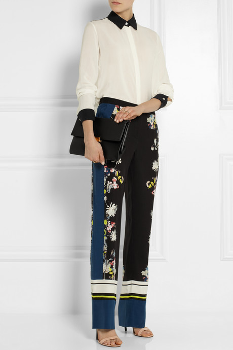 Erdem Taffy floral-print silk wide-leg pants