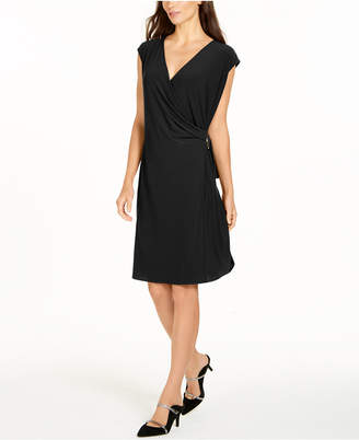 Alfani Hardware Wrap Dress