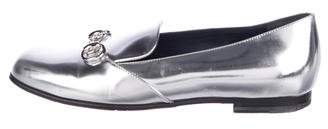Gucci Metallic Horsebit Loafers