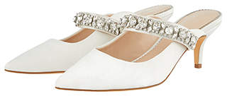 Monsoon Jenna Jewelled Bridal Kitten Mules
