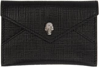 Alexander McQueen Black & Gunmetal Skull Envelope Card Holder $175 thestylecure.com