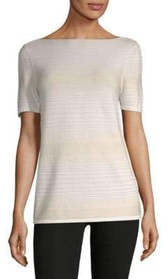 Lafayette 148 New York Sequined Pintuck Sweater