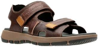 Clarks Collection By Brixby Shore Leather Footbed Sandals