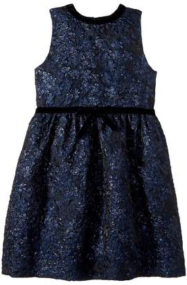 Oscar de la Renta Childrenswear Sleeveless Bow Front Fit and Flare Dress Girl's Dress