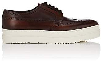 5447c5b06aaf Prada Men s Leather Wingtip Platform Bluchers - Med. brown