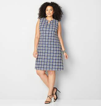 Avenue Square Geo A-Line Dress