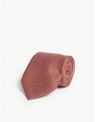 Corneliani Pin-dot print silk tie