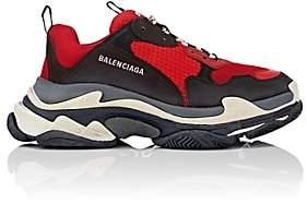 Balenciaga Men's Triple S Sneakers-Red