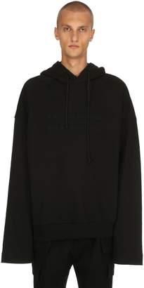 Juun.J Oversize Embroidered Jersey Sweatshirt