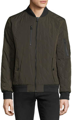 Iconic American Designer Men's Quilted Bomber Jacket