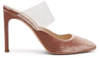 Sophia Webster Tara Velvet Plexi Strap Mules - Womens - Pink