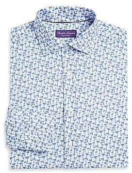 Ralph Lauren Purple Label Men's Palm Tree Dress Shirt