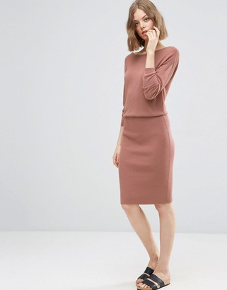 ASOS 2 in 1 Knit Dress with Rib Skirt $49 thestylecure.com