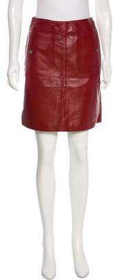 CNC Costume National Leather Mini Skirt w/ Tags
