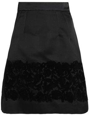 Dolce & Gabbana Flocked Silk-Blend Mini Skirt