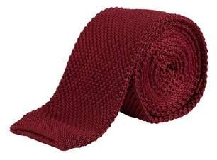 Burton Mens Burgundy Knitted Tie