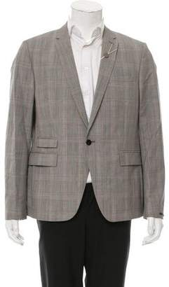 Azzaro Wool Glen Plaid Blazer w/ Tags