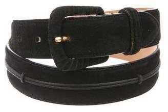 Giorgio Armani Suede Leather-Trimmed Belt