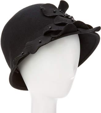 Giovannio Couture Black Profile Wool Cloche