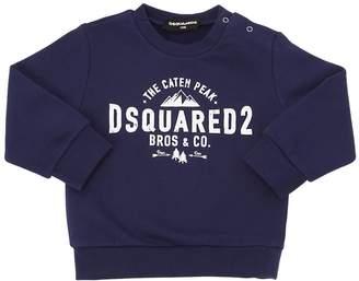 DSQUARED2 Peak Printed Cotton Sweatshirt