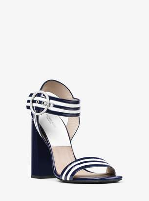 Michael Kors Desi Striped Leather Sandal