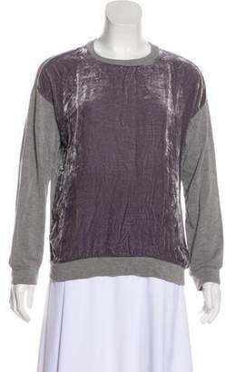 Velvet Crew Neck Sweatshirt w/ Tags