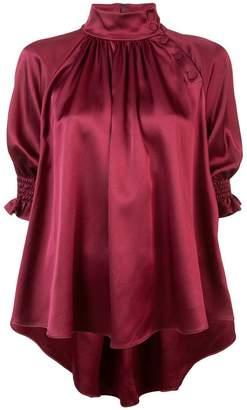 ADAM by Adam Lippes metallic effect asymmetric blouse
