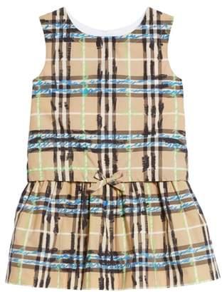 Burberry Mini Mabel Scribble Check Dress