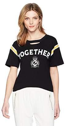 Pam & Gela Women's Short Sleeve tee Football Stripe