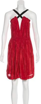 Elizabeth and James Plissé Knee-Length Dress