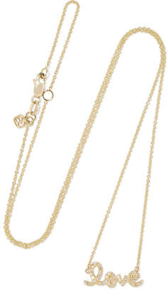 Sydney Evan Love 14-karat Gold Diamond Necklace