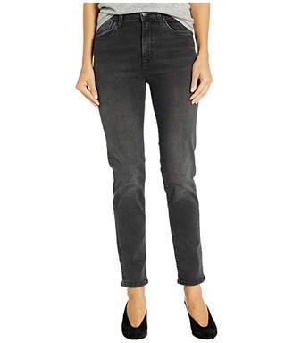 Mavi Jeans Lea High-Rise Relaxed Boyfriend in Dark Grey Vintage