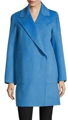Theory Wool Cashmere Notch Lapel Coat