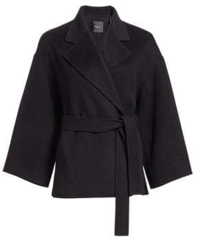 Theory Wool& Cashmere Belted Robe Jacket