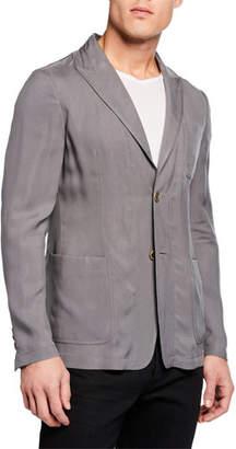 Giorgio Armani Men's Cupro Washed Sport Coat