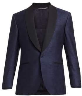Saks Fifth Avenue COLLECTION Rose Houndstooth Wool Single-Breasted Suit Jacket